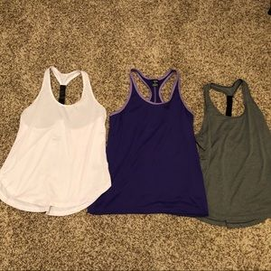 Tops - Racerback workout tops bundle - size small